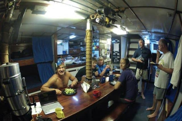 mv blackbeards morning star indoor dining area liveaboard review