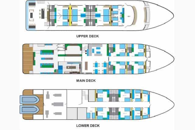 mv blue manta deck plan liveaboard review