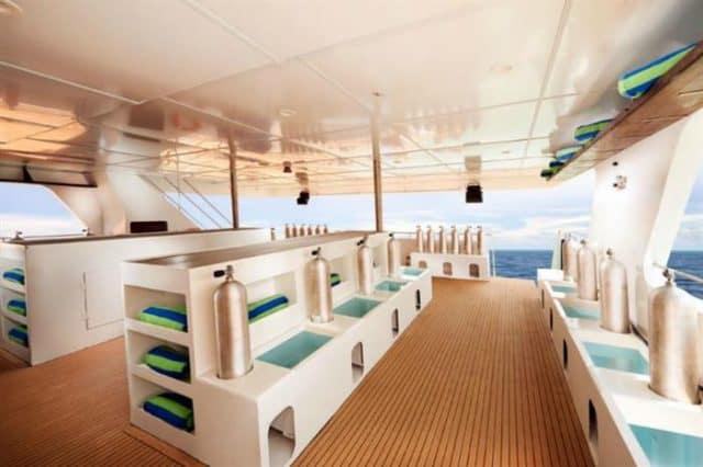 mv blue manta dive deck liveaboard review