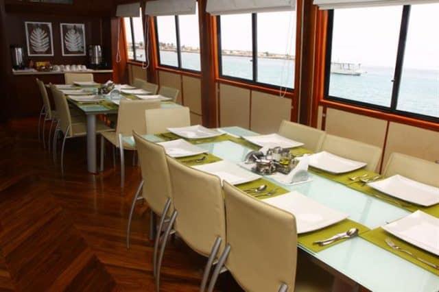mv humbolt explorer dining area liveaboard review