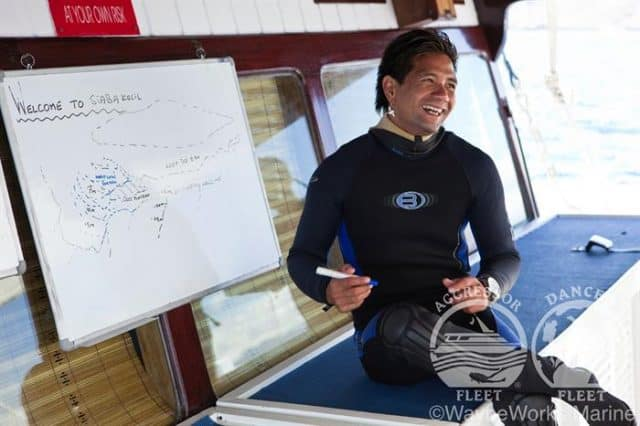 mv indo aggressor dive briefing liveaboard review