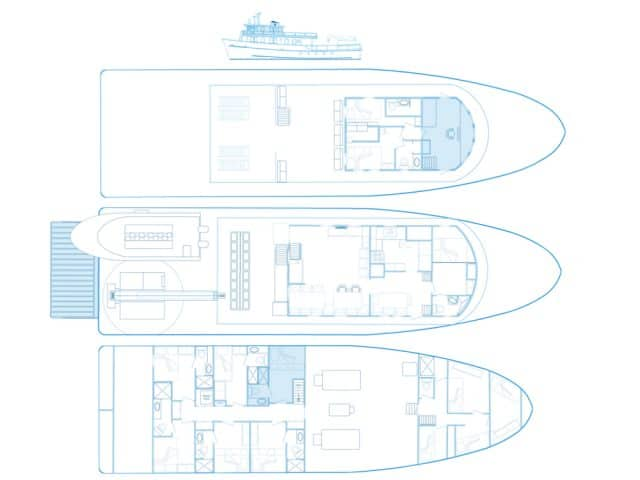 mv undersea hunter deck plan liveaboard review