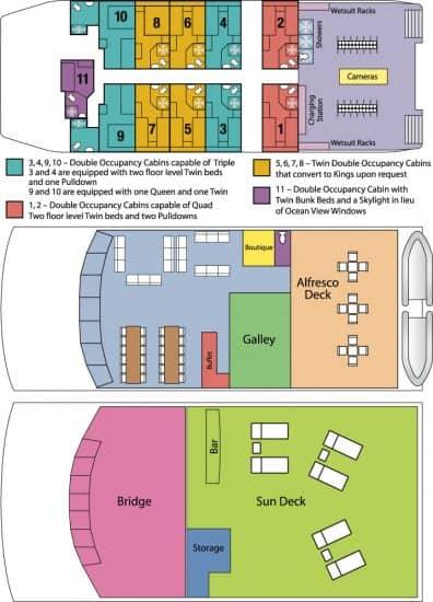 aqua cat liveaboard bahamas deck plan