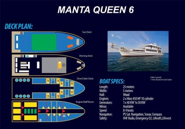 deck plan manta queen 6 liveaboard thailand similan richelieu rock