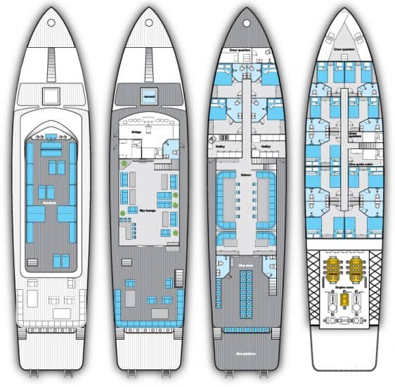 deck plan blue horizon liveaboard red sea diving cruise