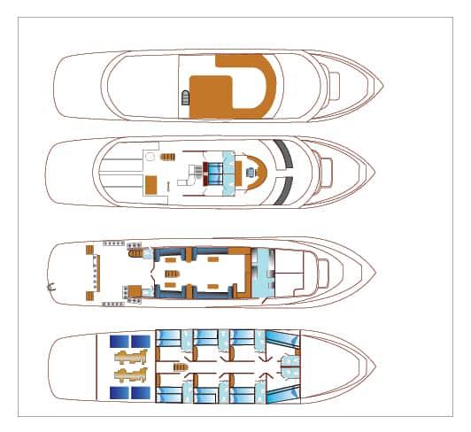 blue planet 1 liveaboard deck plan layout