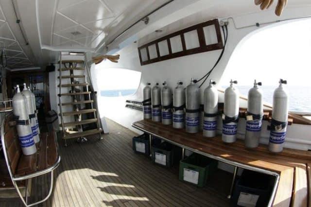 dive deck of the emperor asmaa liveaboard diving red sea