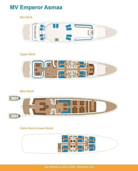 deck plan emperor asmaa liveaboard diving red sea