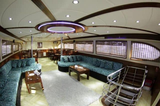 dining and lounge emperor asmaa liveaboard diving red sea