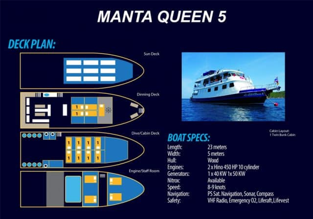deck plan manta queen 5 liveaboard thailand