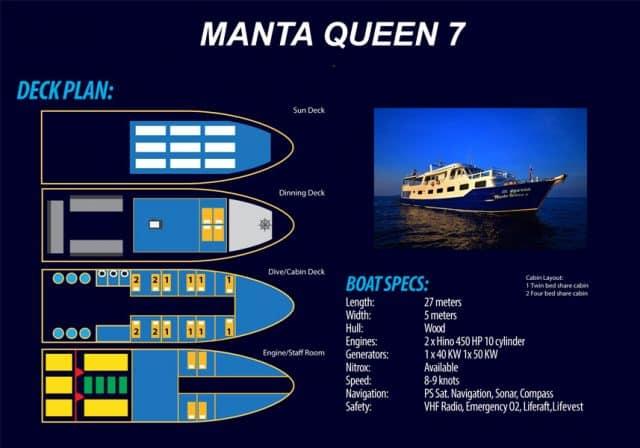 deck plan manta queen 7 liveaboard thailand similan richelieu rock
