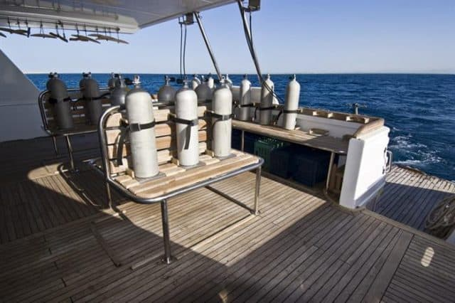 dive deck my excellence liveaboard red sea diving