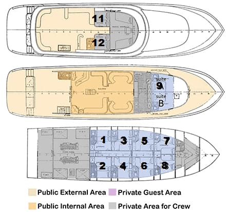 deck plan my excellence liveaboard red sea diving