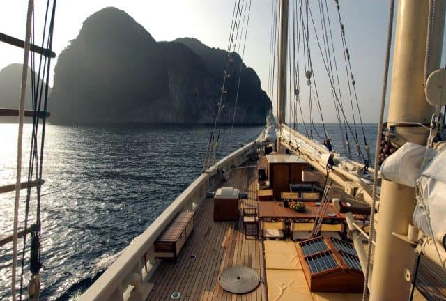 bow deck raja laut charter liveaboard indonesia thailand andaman sea
