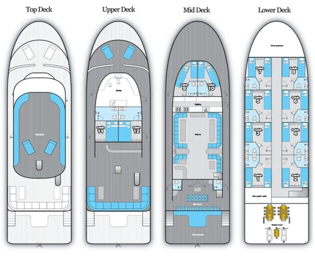 deck plan red sea adventurer liveaboard diving