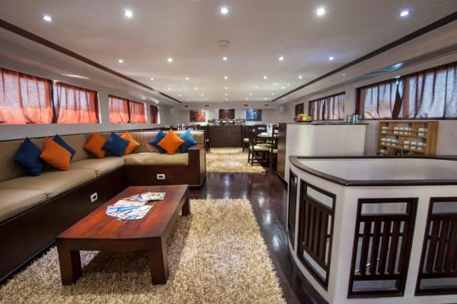 dining and lounge area samira liveaboard diving red sea