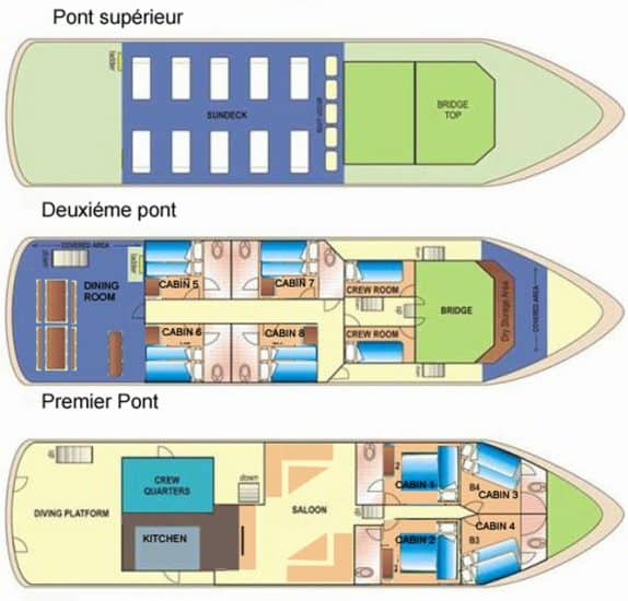 deck plan seadoors liveaboard diving philippines