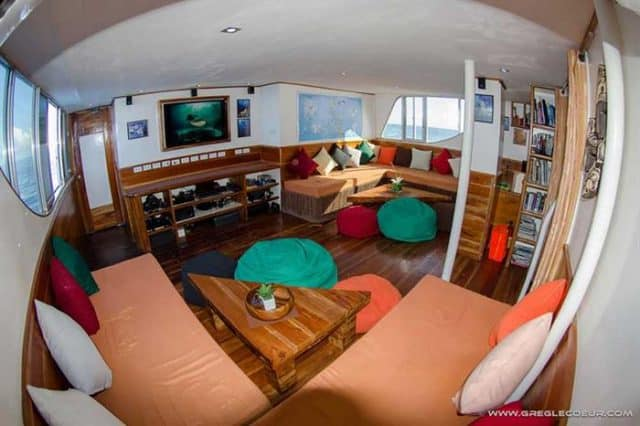 indoor lounge seadoors liveaboard diving philippines