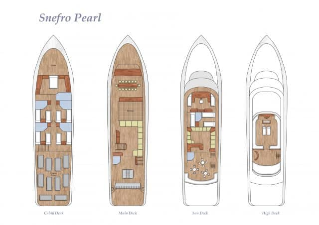 deck plan snefro pearl liveaboard diving red sea