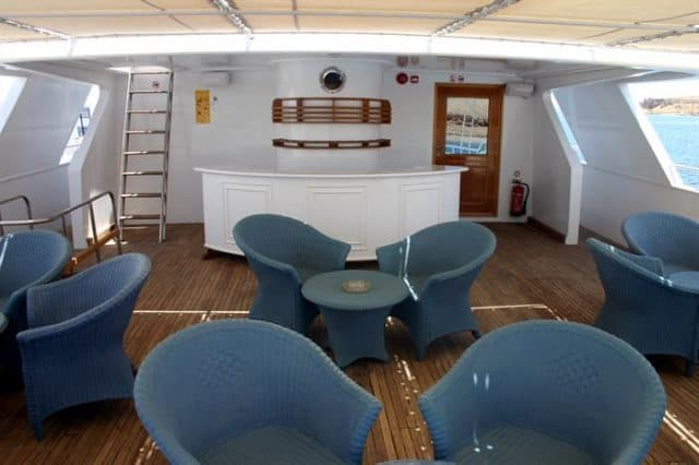 outdoor lounge snefro target liveaboard diving red sea
