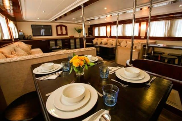 dining and lounge south moon liveaboard diving red sea