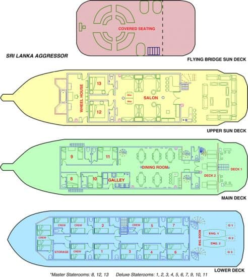 deck plan sri lanka aggressor liveaboard diving cruise
