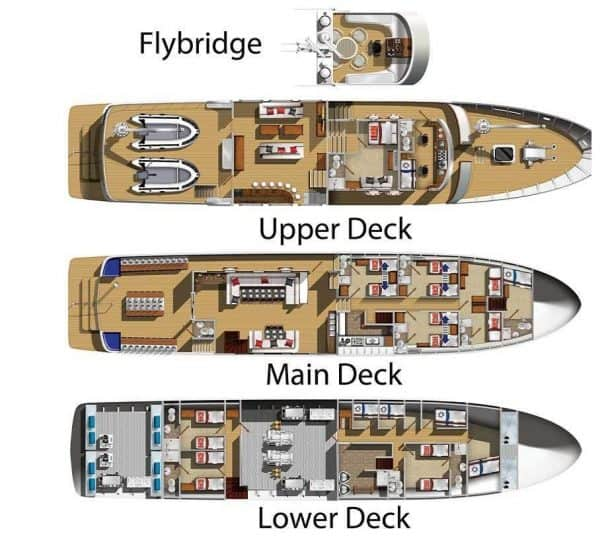 deck plan truk master liveaboard diving micronesia