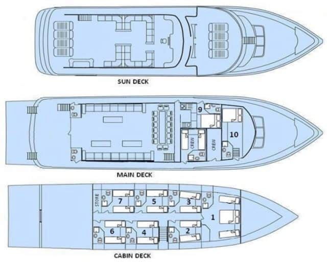 freedom iii red sea liveaboard diving deck plan