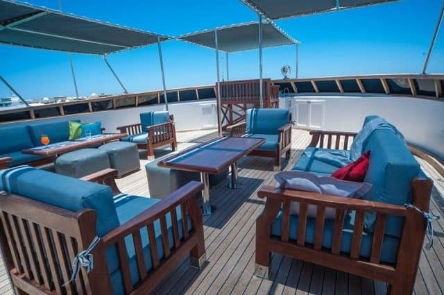 outdoor lounge MY independence II egypt red sea liveaboard diving