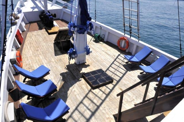 sun deck km bidadari liveaboard scuba diving indonesia