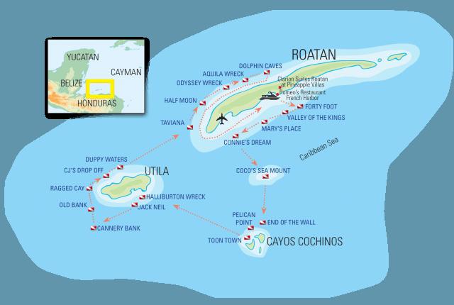 honduras budget liveaboard dive destinations