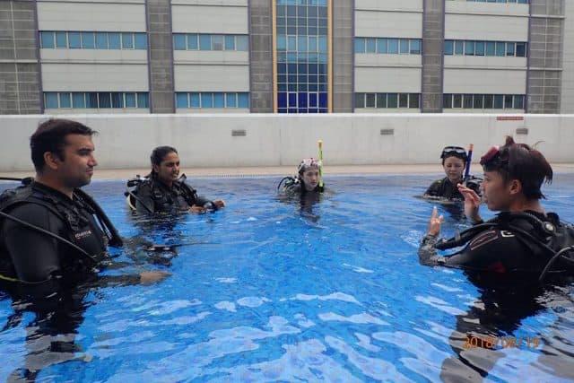 best dive center singapore PADI sunny cove