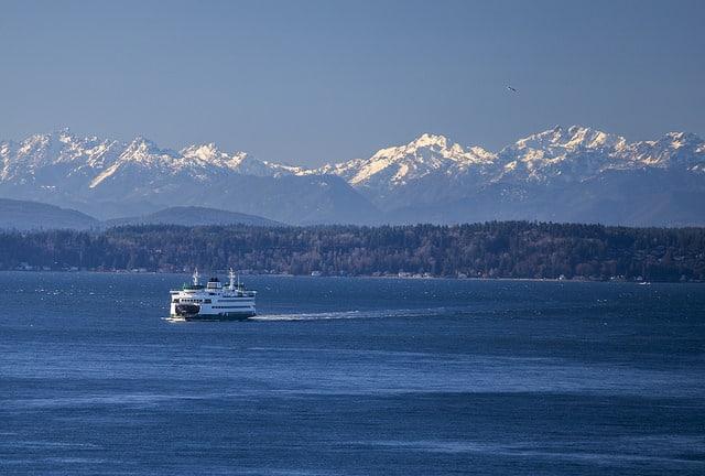 Ferry On Puget Sound Photo by Tiffany Von Arnim