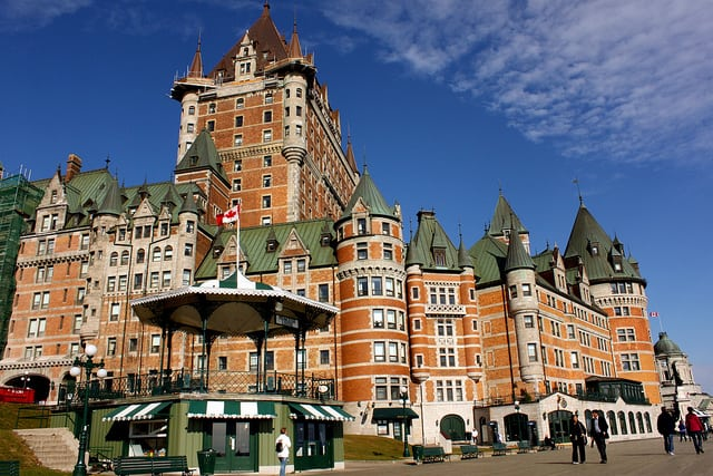 Fairmont Chateau Frontenac Hotel, Quebec city. photo by Prayitno